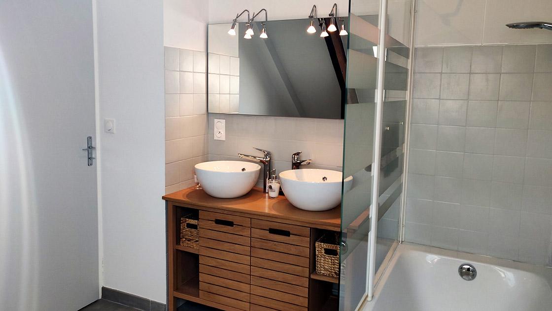 Salle de bain de la maison du saule
